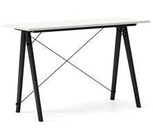 Biurko SLIM KIDS kolor LIGHT GREY stelaż BUK BLACK  Minimalistyczne biurko w formie stolika z wygodną nadstawką na drobiazgi. Wykonane ręcznie z litego...