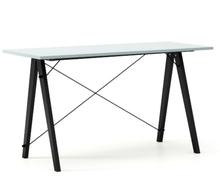 Biurko SLIM KIDS kolor ICE BLUE stelaż BUK BLACK  Minimalistyczne biurko w formie stolika z wygodną nadstawką na drobiazgi. Wykonane ręcznie z litego...