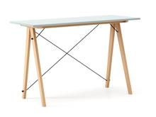 Biurko SLIM KIDS kolor ICE BLUE stelaż BUK (standard)  Minimalistyczne biurko w formie stolika z wygodną nadstawką na drobiazgi. Wykonane ręcznie z...
