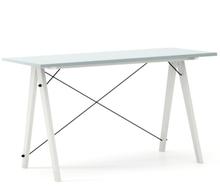 Biurko SLIM KIDS kolor ICE BLUE stelaż BUK WHITE  Minimalistyczne biurko w formie stolika z wygodną nadstawką na drobiazgi. Wykonane ręcznie z litego...