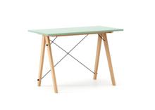 Biurko SLIM KIDS kolor MINT stelaż BUK (standard)  Minimalistyczne biurko w formie stolika z wygodną nadstawką na drobiazgi. Wykonane ręcznie z litego...