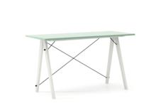 Biurko SLIM KIDS kolor MINT stelaż BUK WHITE  Minimalistyczne biurko w formie stolika z wygodną nadstawką na drobiazgi. Wykonane ręcznie z litego drewna...