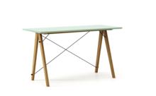 Biurko SLIM KIDS kolor MINT stelaż DĄB  Minimalistyczne biurko w formie stolika z wygodną nadstawką na drobiazgi. Wykonane ręcznie z litego drewna i...