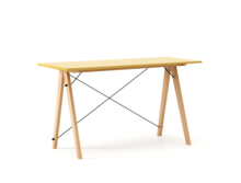 Biurko SLIM KIDS kolor LIGHT MUSTARD stelaż BUK (standard)  Minimalistyczne biurko w formie stolika z wygodną nadstawką na drobiazgi. Wykonane ręcznie z...