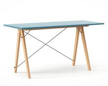 Biurko SLIM KIDS kolor OCEANIC stelaż BUK (standard)  Minimalistyczne biurko w formie stolika z wygodną nadstawką na drobiazgi. Wykonane ręcznie z...