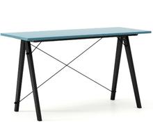 Biurko SLIM KIDS kolor OCEANIC stelaż BUK BLACK  Minimalistyczne biurko w formie stolika z wygodną nadstawką na drobiazgi. Wykonane ręcznie z litego...