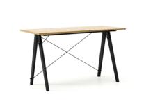 Biurko SLIM KIDS kolor RAW OAK stelaż BUK BLACK  Minimalistyczne biurko w formie stolika z wygodną nadstawką na drobiazgi. Wykonane ręcznie z litego...