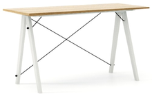 Biurko SLIM KIDS kolor RAW OAK stelaż BUK WHITE  Minimalistyczne biurko w formie stolika z wygodną nadstawką na drobiazgi. Wykonane ręcznie z litego...