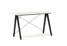 Biurko SLIM KIDS kolor WHITE stelaż BUK BLACK  Minimalistyczne biurko w formie stolika z wygodną nadstawką na drobiazgi. Wykonane ręcznie z litego...