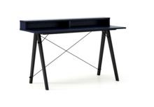 Biurko SLIM KIDS+ kolor NAVY stelaż BUK BLACK  Minimalistyczne biurko w formie stolika z wygodną nadstawką na drobiazgi. Wykonane ręcznie z litego...