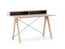 Biurko SLIM KIDS+ kolor DUSTY PINK stelaż BUK (standard)  Minimalistyczne biurko w formie stolika z wygodną nadstawką na drobiazgi. Wykonane ręcznie z...