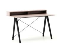 Biurko SLIM KIDS+ kolor DUSTY PINK stelaż BUK BLACK  Minimalistyczne biurko w formie stolika z wygodną nadstawką na drobiazgi. Wykonane ręcznie z litego...
