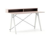 Biurko SLIM KIDS+ kolor DUSTY PINK stelaż BUK WHITE  Minimalistyczne biurko w formie stolika z wygodną nadstawką na drobiazgi. Wykonane ręcznie z litego...