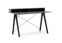 Biurko SLIM KIDS+ kolor GREY stelaż BUK BLACK  Minimalistyczne biurko w formie stolika z wygodną nadstawką na drobiazgi. Wykonane ręcznie z litego...