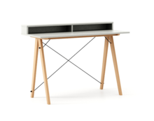 Biurko SLIM KIDS+ kolor LIGHT GREY stelaż BUK (standard)  Minimalistyczne biurko w formie stolika z wygodną nadstawką na drobiazgi. Wykonane ręcznie z...