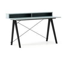 Biurko SLIM KIDS+ kolor ICE BLUE stelaż BUK BLACK  Minimalistyczne biurko w formie stolika z wygodną nadstawką na drobiazgi. Wykonane ręcznie z litego...