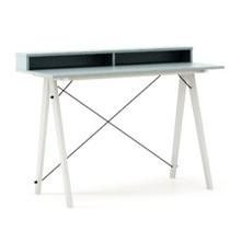 Biurko SLIM KIDS+ kolor ICE BLUE stelaż BUK WHITE  Minimalistyczne biurko w formie stolika z wygodną nadstawką na drobiazgi. Wykonane ręcznie z litego...