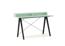 Biurko SLIM KIDS+ kolor MINT stelaż BUK BLACK  Minimalistyczne biurko w formie stolika z wygodną nadstawką na drobiazgi. Wykonane ręcznie z litego...