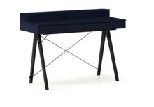 Biurko BASIC KIDS+ kolor NAVY stelaż BUK BLACK  Minimalistyczne biurko z dwoma szufladami i wygodną nadstawką na drobiazgi. Wykonane ręcznie z...