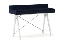 Biurko BASIC KIDS+ kolor NAVY stelaż BUK WHITE  Minimalistyczne biurko z dwoma szufladami i wygodną nadstawką na drobiazgi. Wykonane ręcznie z...