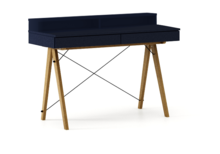 Biurko BASIC KIDS+ kolor NAVY stelaż DĄB  Minimalistyczne biurko z dwoma szufladami i wygodną nadstawką na drobiazgi. Wykonane ręcznie z litego...