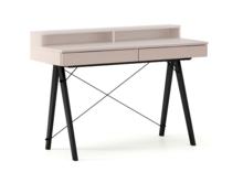 Biurko BASIC KIDS+ kolor DUSTY PINK stelaż BUK BLACK  Minimalistyczne biurko z dwoma szufladami i wygodną nadstawką na drobiazgi. Wykonane ręcznie...