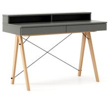 Biurko BASIC KIDS+ kolor GREY stelaż BUK (standard)  Minimalistyczne biurko z dwoma szufladami i wygodną nadstawką na drobiazgi. Wykonane ręcznie...