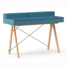 Biurko BASIC KIDS+ kolor OCEANIC stelaż BUK (standard)  Minimalistyczne biurko z dwoma szufladami i wygodną nadstawką na drobiazgi. Wykonane ręcznie z...