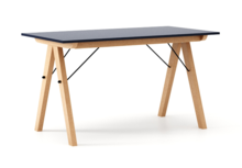 STÓŁ BASIC kolor NAVY stelaż BUK (standard)  Minimalistyczny stół w duchu SCANDI, idealny do jadalni lub kuchni. Wykonany ręcznie z litego drewna i...