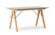 STÓŁ BASIC kolor GREY stelaż BUK (standard)  Minimalistyczny stół w duchu SCANDI, idealny do jadalni lub kuchni. Wykonany ręcznie z litego drewna i...