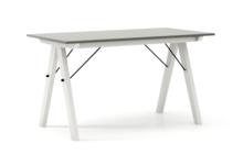 STÓŁ BASIC kolor GREY stelaż BUK WHITE  Minimalistyczny stół w duchu SCANDI, idealny do jadalni lub kuchni. Wykonany ręcznie z litego drewna i blatu...
