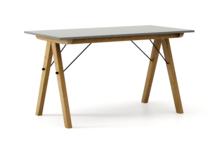 STÓŁ BASIC kolor GREY stelaż DĄB  Minimalistyczny stół w duchu SCANDI, idealny do jadalni lub kuchni. Wykonany ręcznie z litego drewna i blatu...
