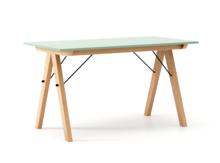 STÓŁ BASIC kolor MINT stelaż BUK (standard)  Minimalistyczny stół w duchu SCANDI, idealny do jadalni lub kuchni. Wykonany ręcznie z litego drewna i...
