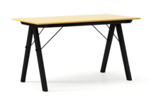 STÓŁ BASIC kolor LIGHT MUSTARD stelaż BUK BLACK  Minimalistyczny stół w duchu SCANDI, idealny do jadalni lub kuchni. Wykonany ręcznie z litego drewna...