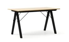 STÓŁ BASIC kolor RAW OAK stelaż BUK BLACK  Minimalistyczny stół w duchu SCANDI, idealny do jadalni lub kuchni. Wykonany ręcznie z litego drewna i...