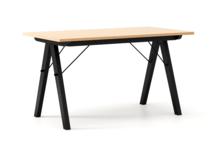 Stół WOODIE 140x70 - stelaż BLACK