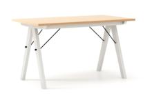 STÓŁ WOODIE blat BUK stelaż BUK WHITE  Solidny, drewniany stół w duchu SCANDI, idealny do jadalni lub kuchni. Wykonany ręcznie z litego drewna,...