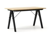 STÓŁ WOODIE blat DĄB stelaż BUK BLACK  Solidny, drewniany stół w duchu SCANDI, idealny do jadalni lub kuchni. Wykonany ręcznie z litego drewna,...