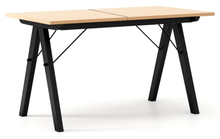 STÓŁ WOODIE blat BUK stelaż BUK BLACK ROZKŁADANY  Solidny, drewniany stół w duchu SCANDI, idealny do jadalni lub kuchni. Opcja rozkładania umożliwi...