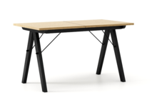 STÓŁ WOODIE blat DĄB stelaż BUK BLACK ROZKŁADANY  Solidny, drewniany stół w duchu SCANDI, idealny do jadalni lub kuchni. Opcja rozkładania umożliwi...