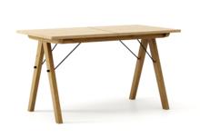 STÓŁ WOODIE blat DĄB stelaż DĄB ROZKŁADANY  Solidny, drewniany stół w duchu SCANDI, idealny do jadalni lub kuchni. Opcja rozkładania umożliwi...