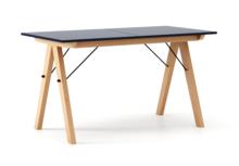 STÓŁ BASIC ROZKŁADANY kolor NAVY stelaż BUK (standard)  Minimalistyczny stół w duchu SCANDI, idealny do jadalni lub kuchni. Opcja rozkładania...