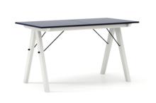 STÓŁ BASIC ROZKŁADANY kolor NAVY stelaż BUK WHITE  Minimalistyczny stół w duchu SCANDI, idealny do jadalni lub kuchni. Opcja rozkładania umożliwi...