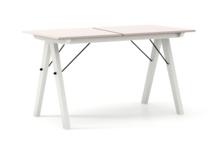 STÓŁ BASIC ROZKŁADANY kolor DUSTY PINK stelaż BUK WHITE  Minimalistyczny stół w duchu SCANDI, idealny do jadalni lub kuchni. Opcja rozkładania...