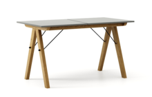 STÓŁ BASIC ROZKŁADANY kolor GREY stelaż DĄB  Minimalistyczny stół w duchu SCANDI, idealny do jadalni lub kuchni. Opcja rozkładania umożliwi...