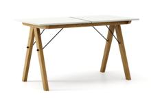 STÓŁ BASIC ROZKŁADANY kolor LIGHT GREY stelaż DĄB  Minimalistyczny stół w duchu SCANDI, idealny do jadalni lub kuchni. Opcja rozkładania umożliwi...