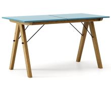 STÓŁ BASIC ROZKŁADANY kolor OCEANIC stelaż DĄB  Minimalistyczny stół w duchu SCANDI, idealny do jadalni lub kuchni. Opcja rozkładania umożliwi...