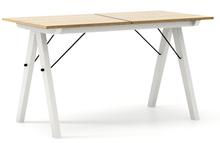 STÓŁ BASIC ROZKŁADANY kolor RAW OAK stelaż BUK WHITE  Minimalistyczny stół w duchu SCANDI, idealny do jadalni lub kuchni. Opcja rozkładania umożliwi...