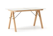 STÓŁ BASIC ROZKŁADANY kolor WHITE stelaż BUK (standard)  Minimalistyczny stół w duchu SCANDI, idealny do jadalni lub kuchni. Opcja rozkładania...