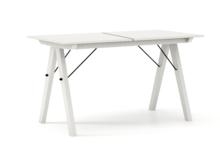 STÓŁ BASIC ROZKŁADANY kolor WHITE stelaż BUK WHITE  Minimalistyczny stół w duchu SCANDI, idealny do jadalni lub kuchni. Opcja rozkładania umożliwi...